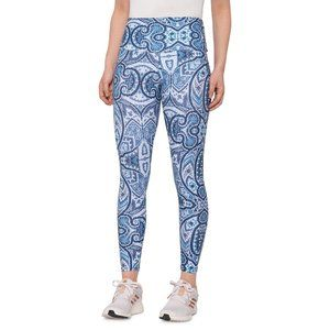 ONZIE High Midi Leggings Paisley - High Waist Blue